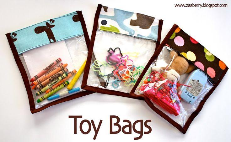 Toy Bag Tutorial TUTORIAL ~ http://zaaberry.blogspot.com/2011/01/toy-bag-tutorial.html