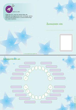 Babybrei - Zahnkalender / Zahnausweis | Baby | Pinterest