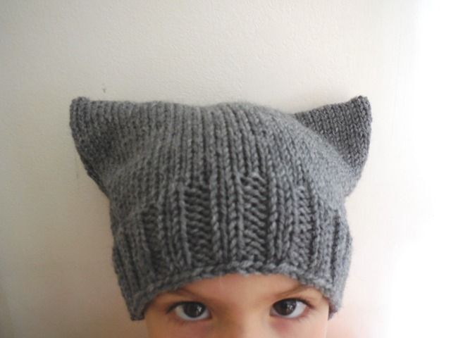 Bonnet fantaisie oreilles de chat pour enfant : Chapeau, bonnet par laulie