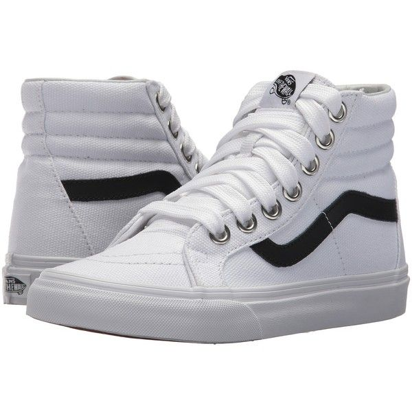 Vans Sk8 Hi Reissue Oversized Lace True White True White Skate 70 Liked On Polyvore Featurin White High Top Sneakers White Lace Shoes High Top Vans