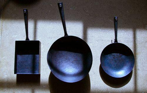 Takayoshi Narita's iron pans, studio tint