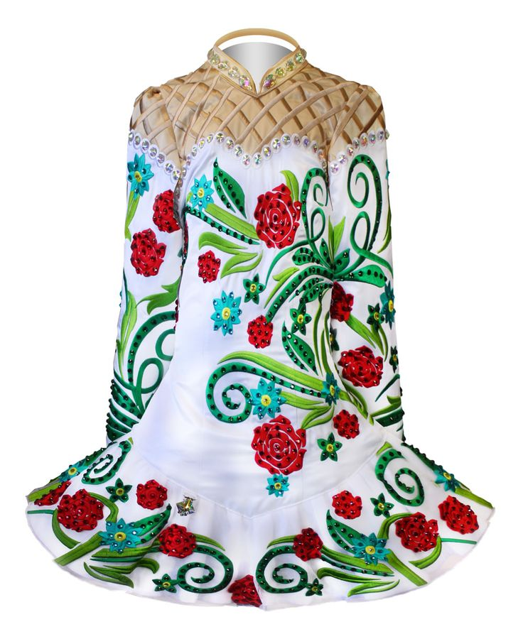 Elevation Design Irish dance dress. Wow. Not my favorite style, but the pattern is pretty
