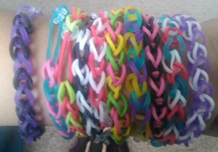 A little carried away with rainbow loom :D