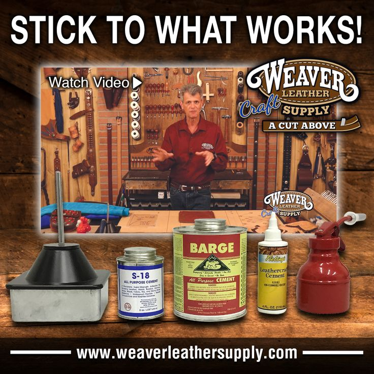 When lining your leather projects, you need a high quality cement to hold your liner in place! Check out our cement, glues & adhesives at: http://www.weaverleathersupply.com/catalog/ItemCatalogListing/001/226  To learn how to line your leather projects with Chuck Dorsett, please see: http://www.weaverleathersupply.com/learn/how-to-videos/tools/adding-a-liner-to-your-projects