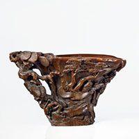 Grande Coupe Libatoire en Corne de Rhinoceros Sculptee, Chine, Dynastie Qing, fin du XVIIe Siecle  | Artcurial
