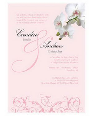 Pink Background Color Birchcraft Wedding Invitations Using White Flower Theme Beautiful Your Design