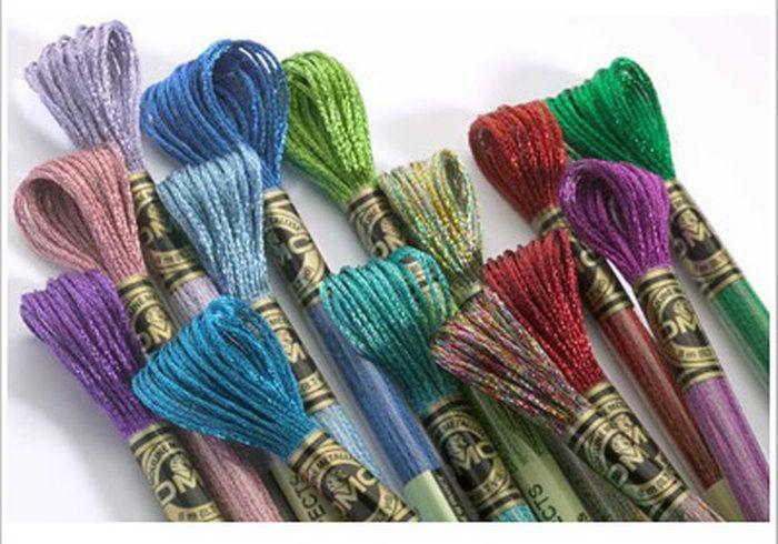 【DMC刺しゅう糸】(ライトエフェクト)2宝石のように輝く革命的な刺しゅう糸【プレシャスメタル】【アンティーク】【手芸材料・刺繍糸】
