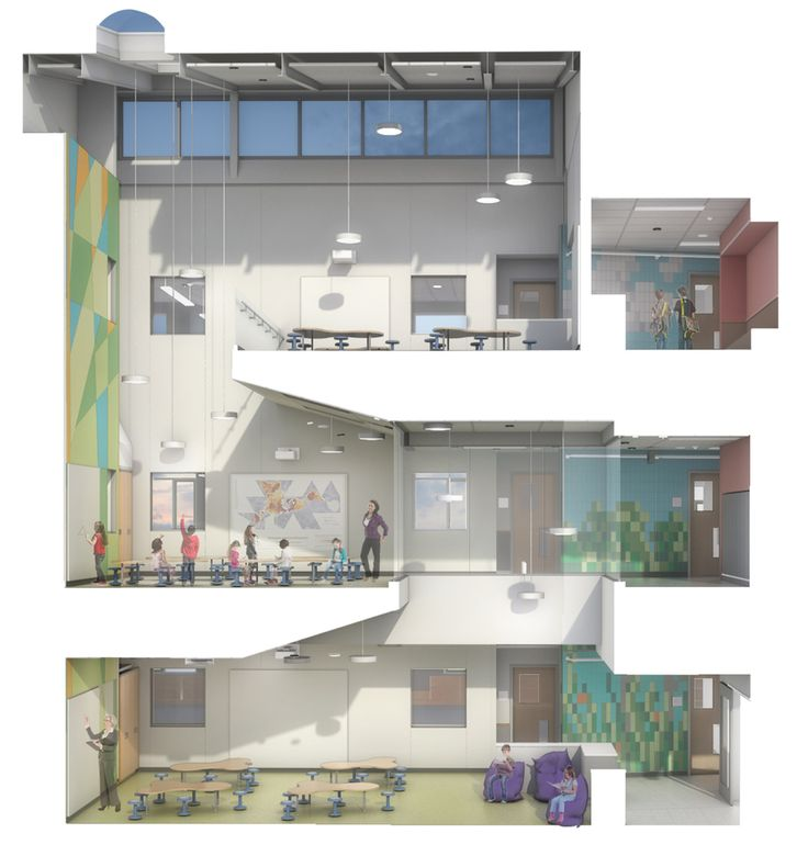 Woodland Elementary School,Courtesy of HMFH Architects