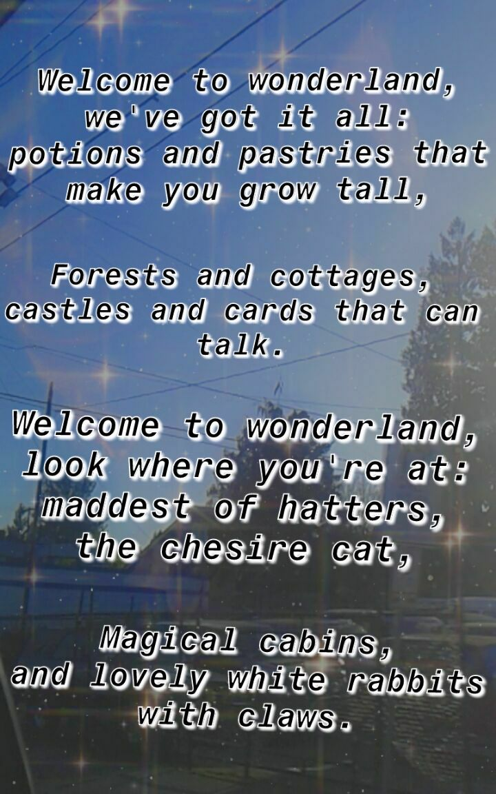 Welcome To Wonderland Anson Seabra Im A Lil Obsessed With Tiktok Lol Song Lyrics Wallpaper Song Quotes Song Lyric Quotes