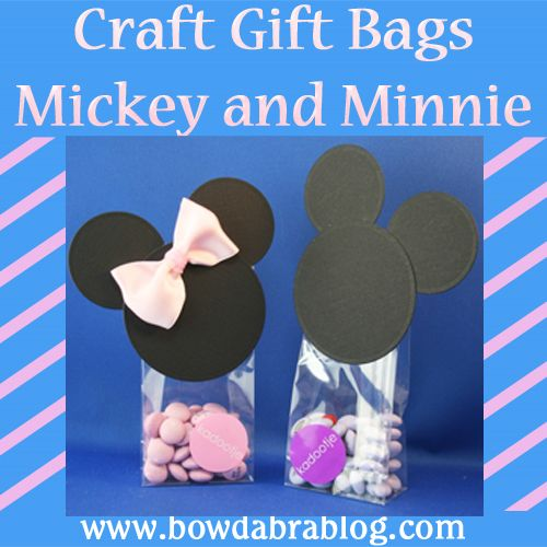 Craft Gift Bag tutorial of Mickey and Minnie Mouse #disney