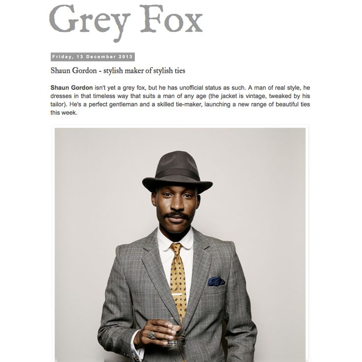 "Grey Fox Blog Features Shaun Gordon ties.  Photo: Khalil Musa for ""I Am Dandy"" Book Launch Event"