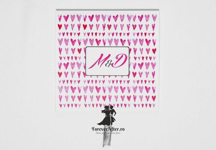 Invitatie de nunta Full Hearts | Invitatii de nunta by ForeverAfter.ro