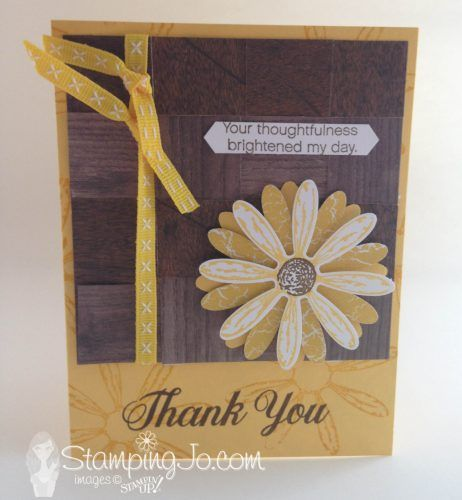 Weaved Thank You Card - Hand Stamped Cards with Josee Smuck-Stampin' Up! Canada Demonstrator