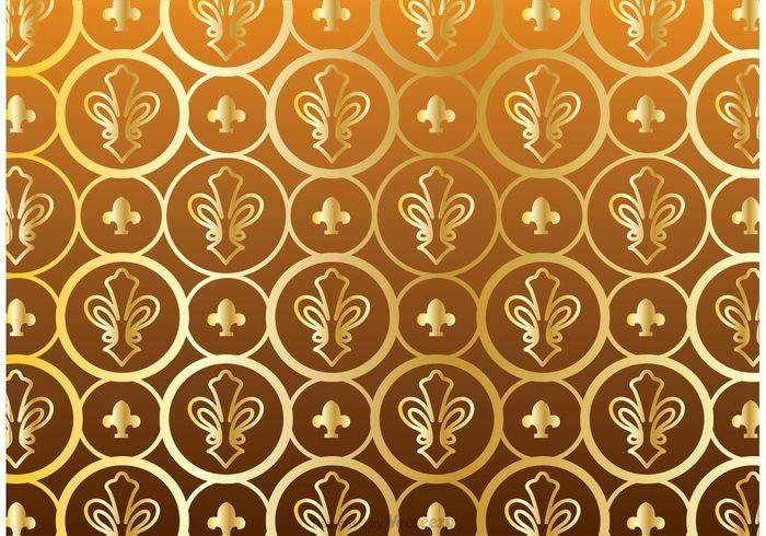 Free vector Gold Fleur De Lis Pattern Vector #23745