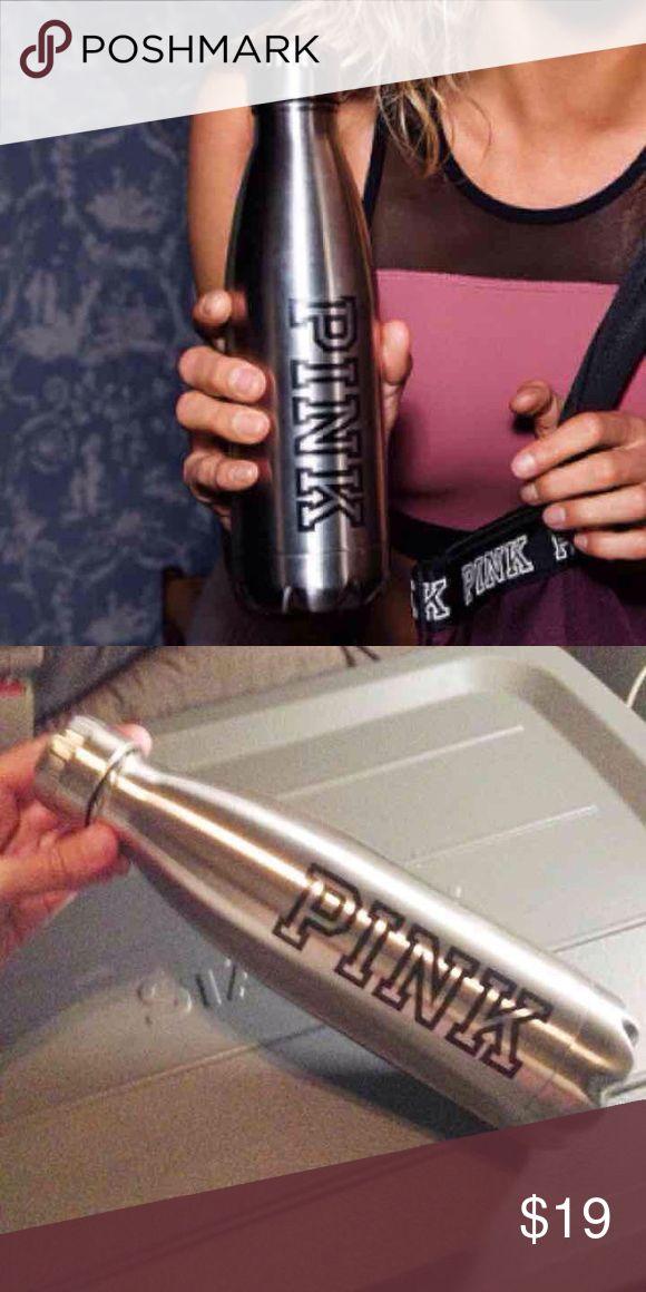 Vs PINK metal water bottle Victoria's Secret PINK metal water bottle 17fl oz NWT screw off cap PINK Victoria's Secret Accessories