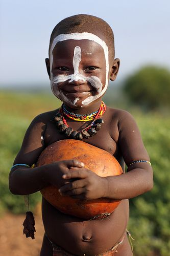 The face of the future. Ethiopian Tribes, Karo