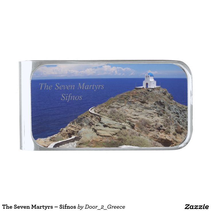 The Seven Martyrs – Sifnos Silver Finish Money Clip