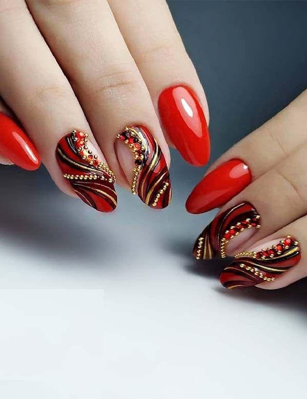Amazing Red Nail Designs You Must Follow In 2018 S Izobrazheniyami