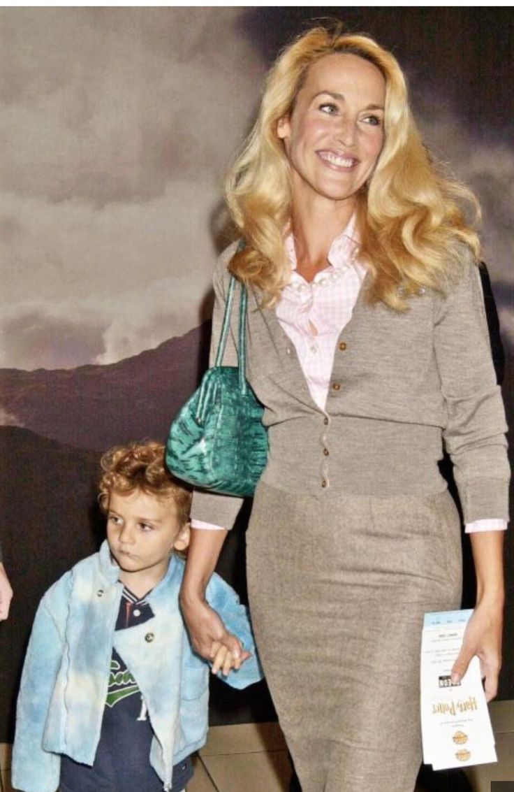 Jerry Hall with son Gabriel Jagger