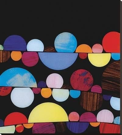 Bauble Stretched Canvas Print by Rex Ray at Art.com