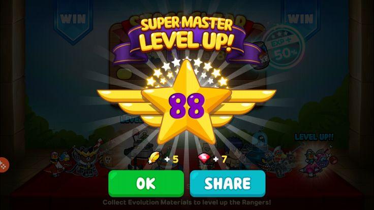 Attained Super Master Level 88! #milestone #super #master #levelup #88 #linerangers