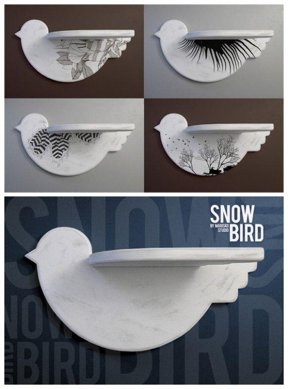 bird shelves