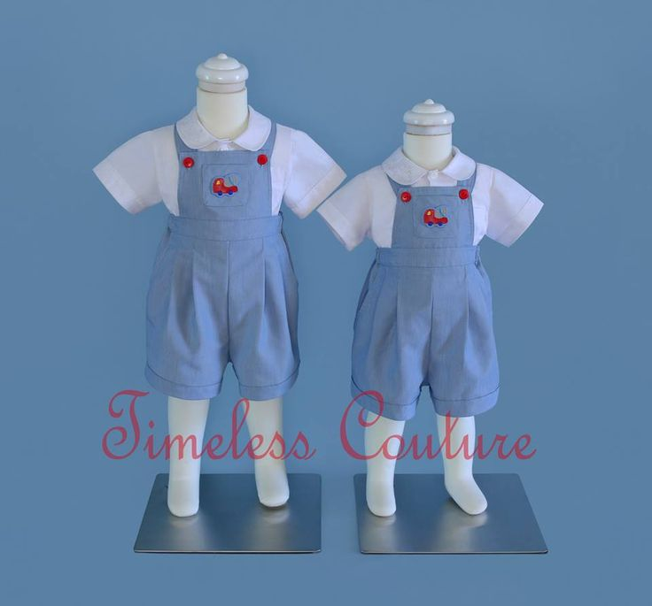 PLAYFUL BROTHERS OVERALLS Boys overalls, has a pocket and design detail, elastic at back for body growth, and snaps at the bottom of legs for an easy nappy change, And lots of rooms for comfort.   #vintage #Easter #boys #overalls    a.b.timelesscouture@gmail.com  www.facebook.com/a.b.timelesscouture