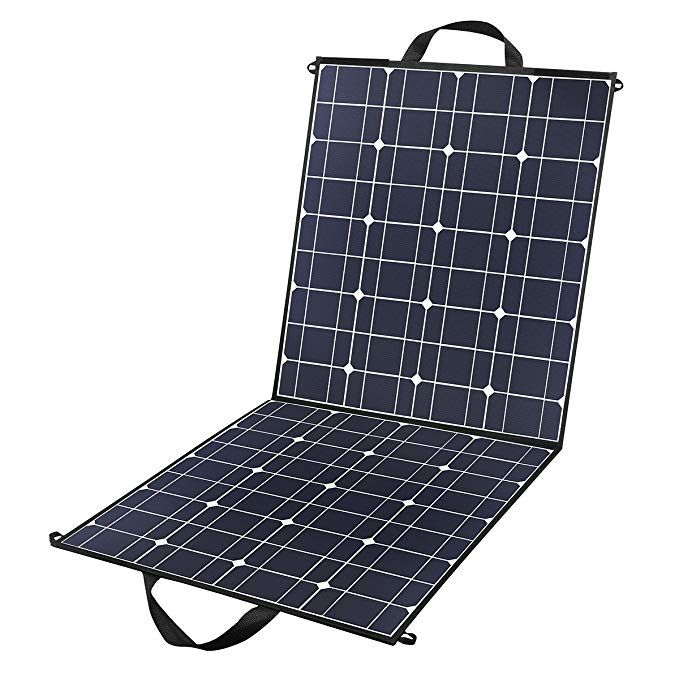 100 Watts 12 Volts Portable Solar Panel Kit Charger Foldable Flexible Monocrystalline Solar Charger With Solar Panel Charger Portable Solar Panels Solar Panels