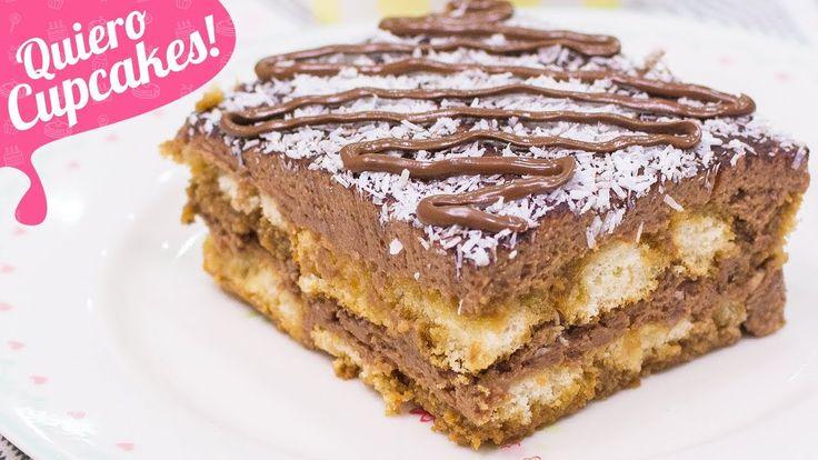 TIRAMISÚ DE NUTELLA Y COCO | POSTRE SIN HORNO | Quiero Cupcakes!