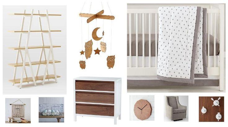 Wood & White Rustic Baby Nursery Ideas