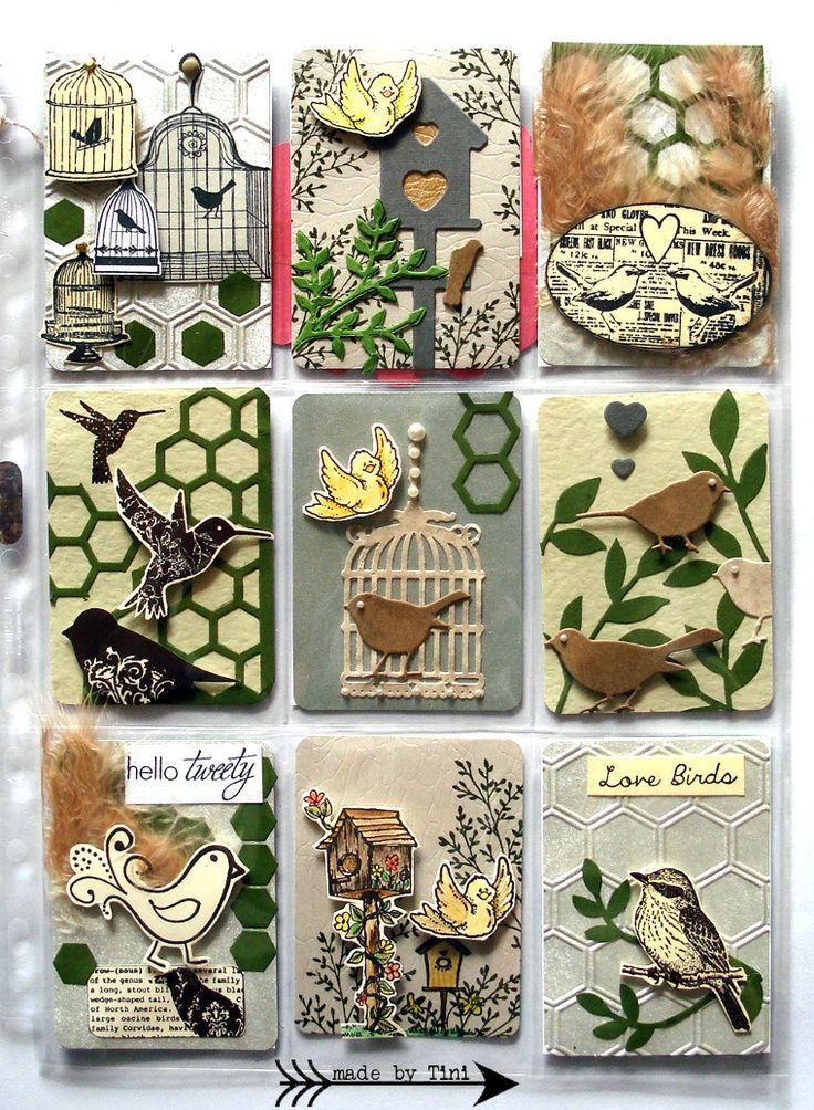 "My Pocket Letters ""Yello & Green Birds""  @ArtsbyTini"