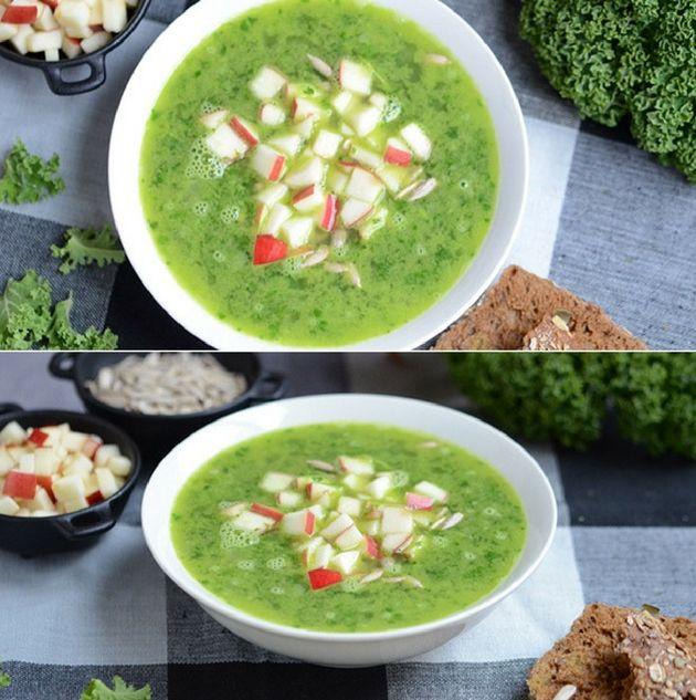 Skøn suppe med den smukkeste grønne farve fra grønkål og ærter. Den er super hurtig at lave og er perfekt til en travl hverdag.