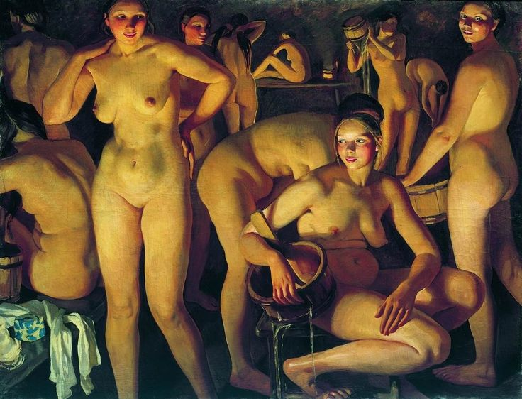 'Bath' (1913) by Russian painter Zinaida Serebriakova (1884-1967). via Wiki paintings )