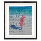 Footprints in Sand Cross Stitch -808 - via @Craftsy