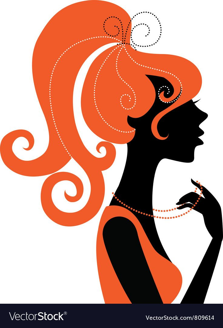 Beautiful Girl Silhouette Profile Vector Image On Girl Silhouette Silhouette Art Silhouette Images
