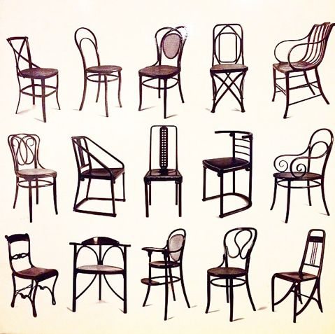 19 c., 3rd quarter, Thonet (designer), bentwood chairs