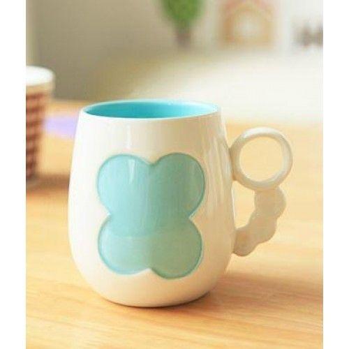 Ceramic Mug - Clover - Shop online now at www.lillyjack.com.au