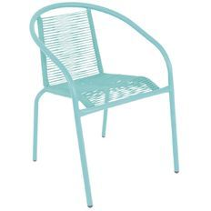 Living & Co Bucatini Bistro Chair Mint Blue $29 black and orange also The Warehouse