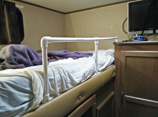 Pvc Bunk Bed Rail In Rv Rv Hacks Pinterest Bunk Bed