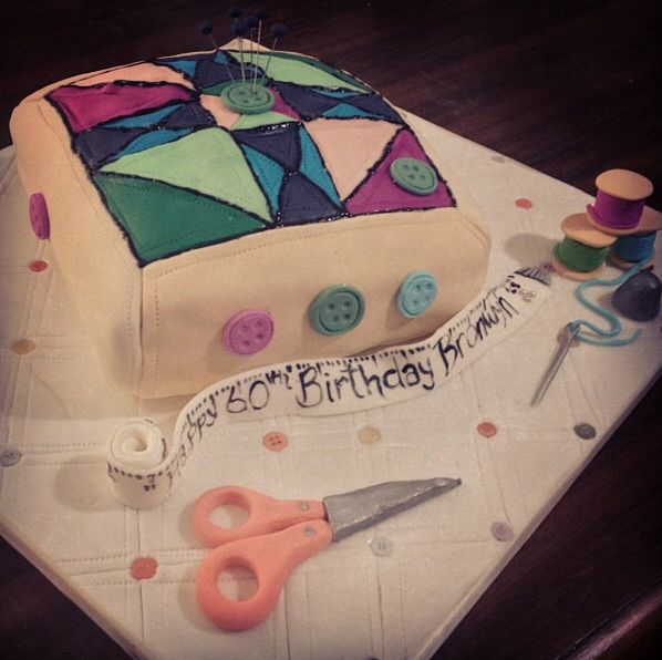 Sewing Pillow Cake - By Nat and Jess