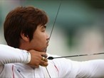 Archery competition begins - London 2012 Olympics    This S. Korean Archer is legally blind, yet, he made the most point in the 1st round.... amazing isnt it?