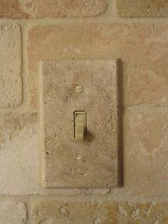 travertine switch plate covers - Google Search