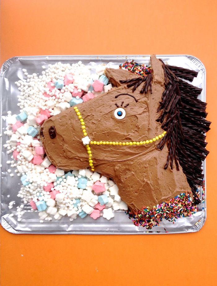 DIY Homemade Horse Birthday Cake | Step by Step Instructions
