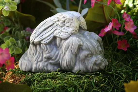Shih Tzu Dog Angel Statue