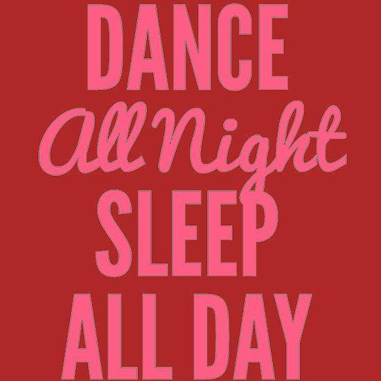 Dance All Night Sleep Pink http://www.redbubble.com/people/harmonijou/works/23245978-dance-all-night-sleep-pink?asc=t via @redbubble