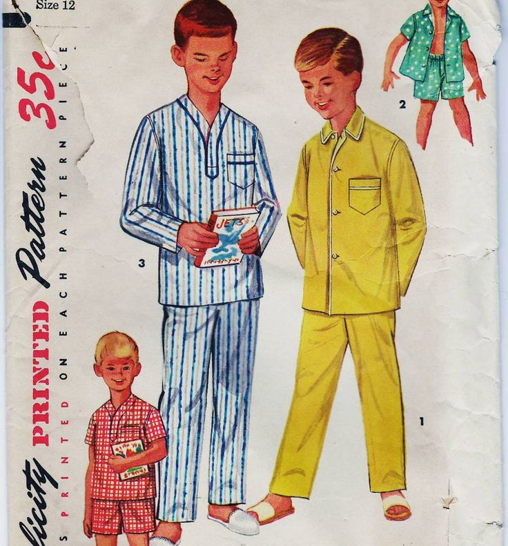 Just Listed ... THIS IS A PATTERN; NOT THE FINISHED PRODUCT!  Simplicity 1434 Sewing Pattern Boys Pajamas In Two Lengths - Copyright 1950's Best Estimate - $10.98.  USA Free Shipping.  http://etsy.me/1SaAdR0  #fit #follow #like #pic #photo #oftheday #wp #blog #sewing #seamstress #twitter #fb #tweet #buffer #DIY #supply #show #emporium #boutique #studio #boy #pajamas #top #pants #pop #tagsforlike #pattern #handmade #craft #promote  @Instagram @sharpharmade