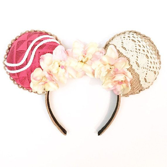 These Moana inspired Magic Mouse Ears are perfect for the Disney lover in everyone. They are made from a cotton material, burlap, and burlap ribbon. There is a burlap ribbon trim along the base of the ears and around the outside of the ears. Slight variations may occur because each pair is hand made. Headband color and type may differ, depending on the supply I have in stock. I have 2 different headbands I use. The ears are stuffed and tend to be top heavy. They are not designed to be worn…