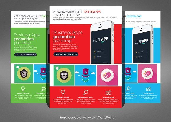 Mobile & Computer Repair Flyer  by Party Flyers on @creativemarket