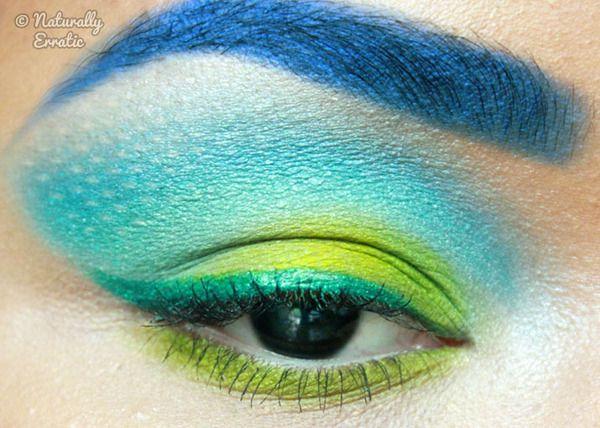 The Hunger Games Makeup (Susan's interpretation: sparkly lizard)