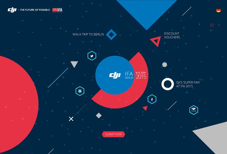 DJI at IFA Berlin 2015 minisite on Web Design Served